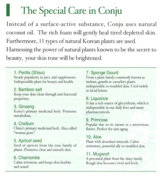 CONJU SPECIAL CARE INGREDIENTS