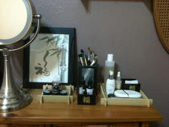 Clean Makeup Area