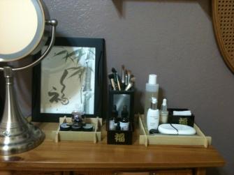 Clean Makeup Area