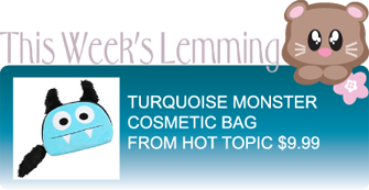 TURQUOISE MONSTER COSMETIC BAG