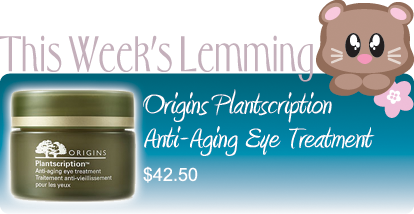 ORIGINS PLANTSCRIPTION ANTI-AGING EYE TREATMENT $42.50