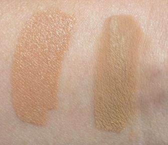 RIMMEL CLEAN FINISH IN WARM SAND AND HOURGLASS IMMACULATE IN BEIGE SWATCHES