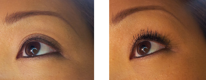TOO FACED BETTER THAN FALSE LASHES BEFORE & AFTER