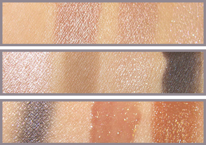 BOBBI BROWN DESERT TWILIGHT SWATCHES