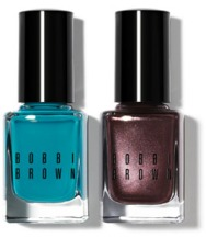 BOBBI BROWN NAIL POLISH IN TURQUOISE AND TWILIGHT $22