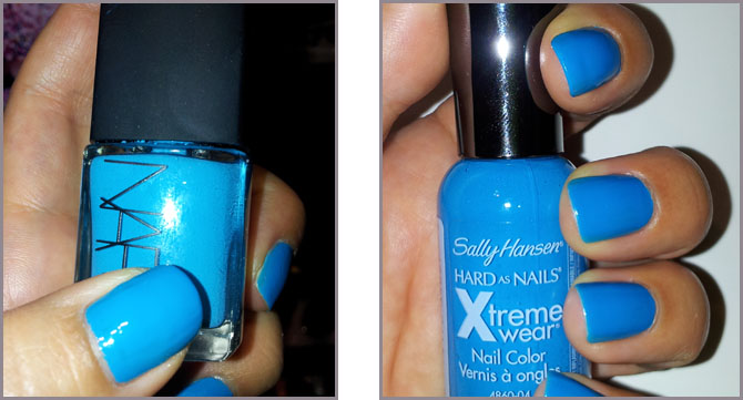 SALLY HANSEN XTREME WEAR BLUE ME AWAY! & NARS KOLIARY