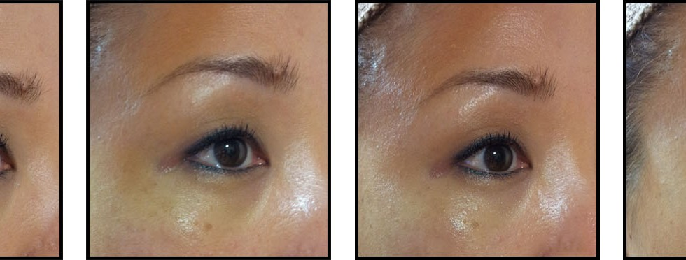 BOBBI BROWN ILLUMINATING FACE BASE BEFORE AND AFTER