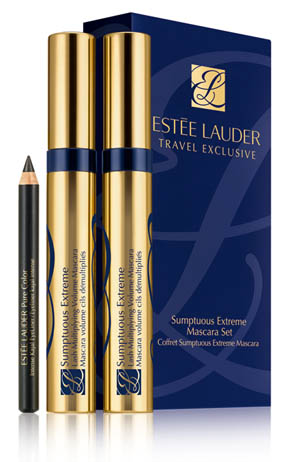 ESTEE LAUDER SUMPTUOUS EXTREME MASCARA SET TRAVEL EXCLUSIVE