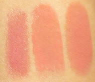 ESTEE LAUDER KISSABLE LIPSHINE TRIO SWATCHES