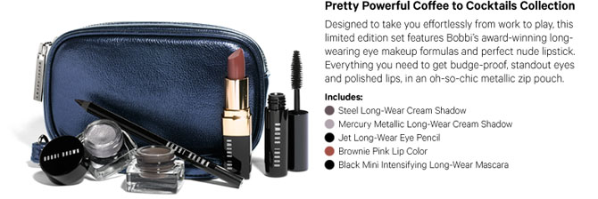 BOBBI BROWN PRETTY POWERFUL COFFEE TO COCKTAILS COLLECTION