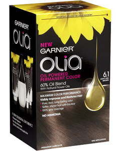 GARNIER OLIA OIL POWERED PERMANENT COLOR 6.1 LIGHT ASH BROWN