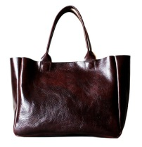 RIB AND HULL HEIRLOOM TOTE IN OXBLOOD