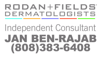 Rodan + Fields Independent Consultant Jan Ben-Rajab