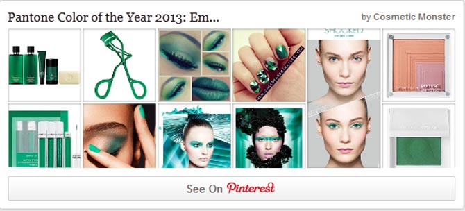 PANTONE EMERALD PINTEREST WIDGET