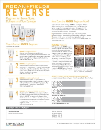 RODAN AND FIELDS REVERSE DETAILS