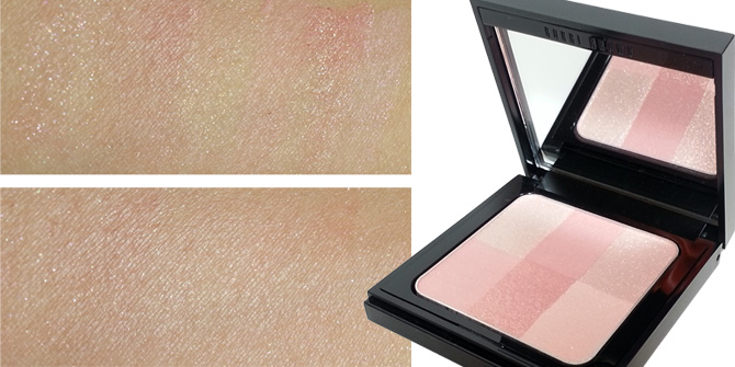 BOBBI BROWN BRIGHTENING BRICK IN PINK - SWATCHES