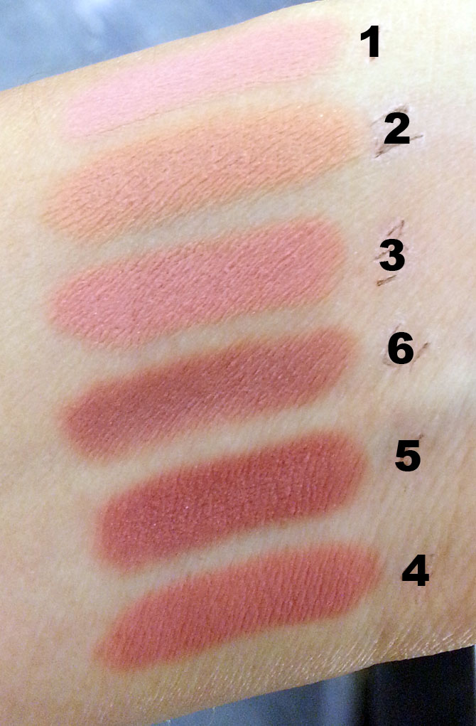 HOURGLASS FEMME NUDE LIP STYLO SWATCHES