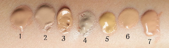 1-7 BB CREAM SWATCHES - ARTIFICIAL LIGHT