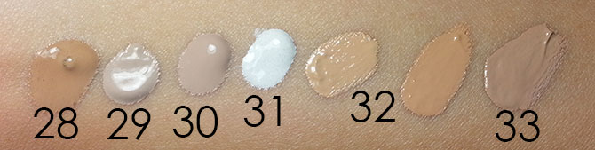 ASIAN BB CREAM SWATCHES - ARTIFICIAL LIGHT