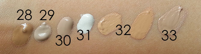 ASIAN BB CREAM SWATCHES - NATURAL LIGHT