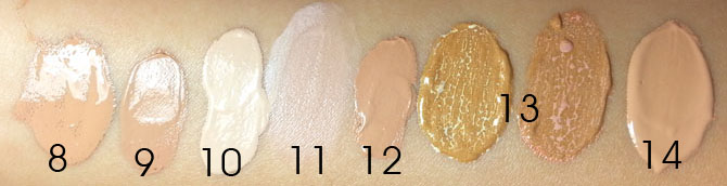 DRUGSTORE BB CREAM SWATCHES - ARTIFICIAL LIGHT