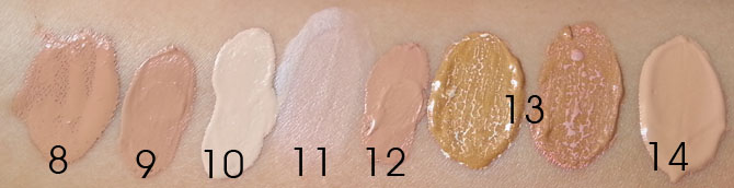 DRUGSTORE BB CREAM SWATCHES - NATURAL LIGHT