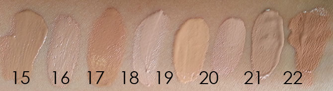 DEPARTMENT STORE BB/CC CREAM SWATCHES - NATURAL LIGHT