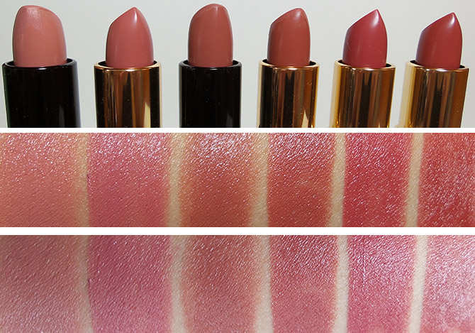 BOBBI BROWN LIP COLOR SWATCHES