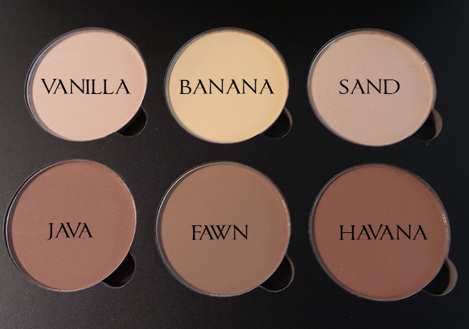ANASTASIA CONTOUR KIT SWATCHES 1