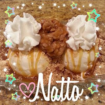 Natto Ice Cream Sundae