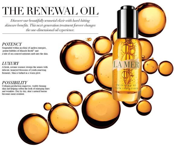 la mer the renewal oil ingredients