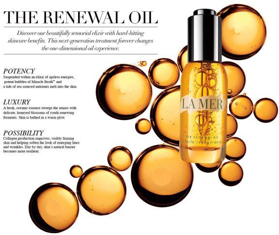 la mer the renewal oil ingredients